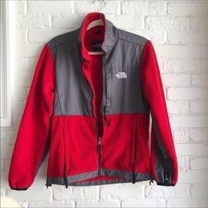 Women's north face red polartec jacket medium
